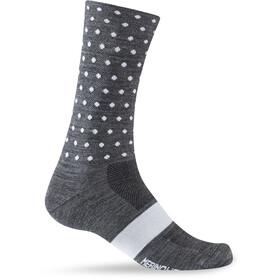 Giro Seasonal Socks Unisex Merino Wool charcoal/white dots